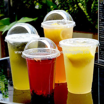 china 12oz disposable plastic drinking cups for milk tea from fuzhou