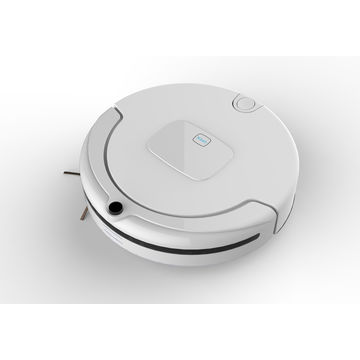 China C12 robotic vacuum cleaner with large LCD touch screen and good cleaning function