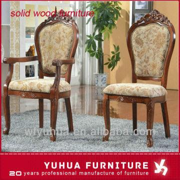 ... China Hotel Use Wood Frame Antique Hand Carved Wood Chairs