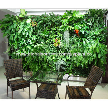 China Indoor artificial fake synthetic simulation plant wall ...