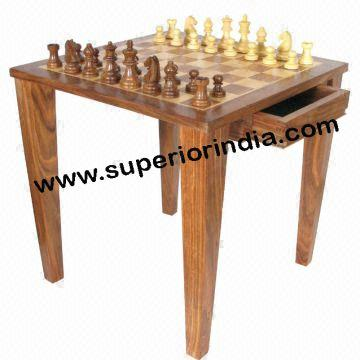 Beau WOODEN CHESS TABLE FOLDING India WOODEN CHESS TABLE FOLDING