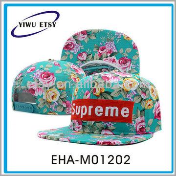 32ed393d87c China Custom Green Floral Snapback Cap