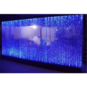 led lighting water bubble wall waterfall bar decoration colorful ...