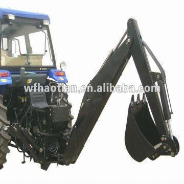 Compact tractor Backhoe by PTO with three point linkage ,with