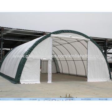 ... China Dome Waterproof Warehouse Shelter With Vents Fabric Steel Building  Mobile House Storage Tent ...