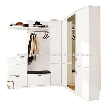Bedroom storage closet unit commercial design laminate finish ...