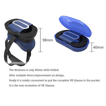 China Fold into small size save shipping fee 3D VR glasses