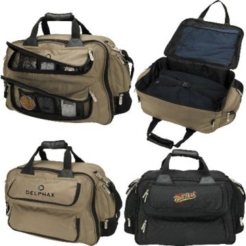 China Duffel Bag 1680d Horizontal Suitcase Style Main Compartment