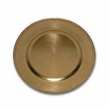 ... China 13-inch Gold-plated Round Disposable Charger Plate  sc 1 st  Global Sources & 13-inch Gold-plated Round Disposable Charger Plate with Lacquer ...