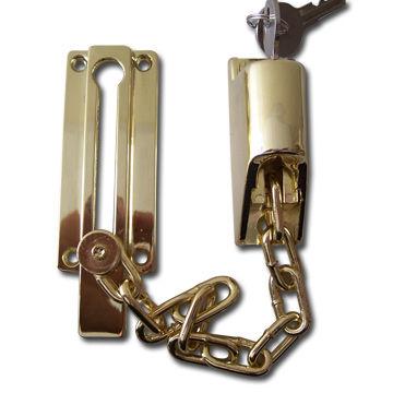 Hong Kong SAR Brass-plated Chain Door Lock, Made of Zinc Alloy ...