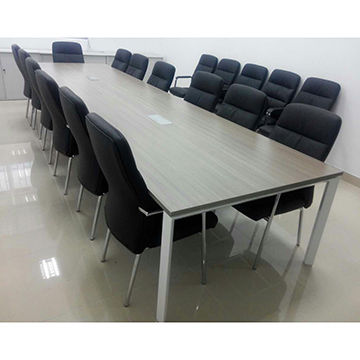 Delicieux China Modern Teak Wood Office Conference Table With Metal Under Structure  For Multiple People ...