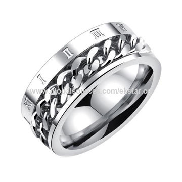 6cbc418eaf6 China 2018 New Fashion Three colors Cool luxury design titanium steel rings  for Men ...