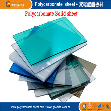 Clear Polycarbonate Solid Sheet with High Durability, in Various ...
