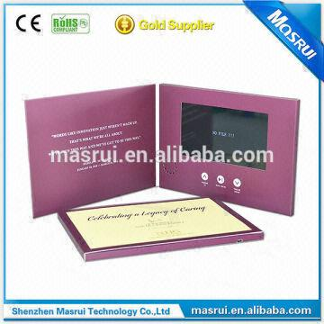 Shenzhen Masrui Greeting Cards Video Birthday Cards Wholesale Memory