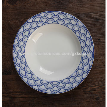 ... China Wedding hotel restaurant custom round shape crockery porcelain dinner plates ... & Wedding hotel restaurant custom round shape crockery porcelain ...