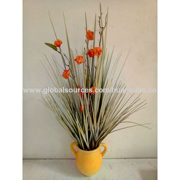 China artificial yellow flowers from shenzhen wholesaler shenzhen china 35h tall artificial yellow flowers artificial bonsai in marble ceramic pot home mightylinksfo