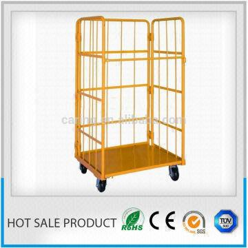 warehouse roll cage trolley 1) Loading capacity:500kgs 2