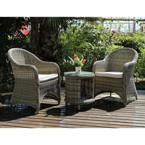... China 3 Piece Rattan Wicker Bistro Set