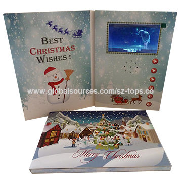 china new high quality homemade video brochure christmas gift 2017 new hot items gifts