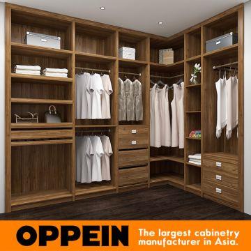 China Oppein Modern Melamine Wood Walk In Closet Wardrobe With Mirror  (YG16 M07