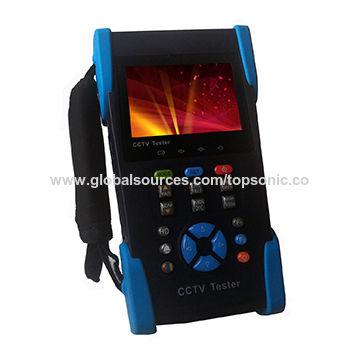 3 5'' AHD/TVI/CVI tester with PTZ control, power output, PoE test