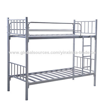 China Cheap Price Bunk Bed Adult Metal Bed Silver Heavy Duty Steel Bed Iron Bed On Global Sources Metal Bed Frame Iron Bed Queen Iron Bed Twin