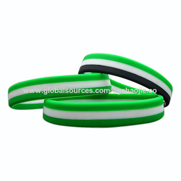 China Bulk Est Custom Ink Filled Silicone Bracelets Rubber Wristbands