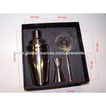 China Stainless Steel Cocktail Shaker, Portfolio Series, OEM/ODM Orders are Welcome