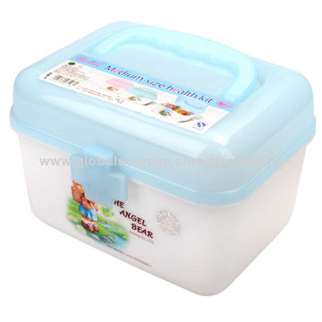 China Medium Size Medical Storage Box With Lift Out Inner Tray And Carrying  Handle