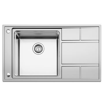 1 <sup>3/4</sup>-inch Stainless Steel Sink Hole Cover with 10 to ...