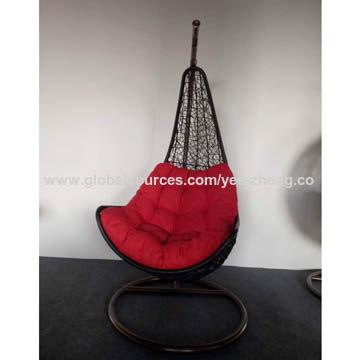 Patio Furniture Rattan Hanging Swing Cum Jhula Swing Basket Egg - Hanging-swing-outdoor-furniture