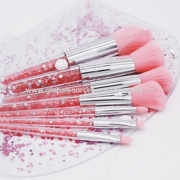 ... China OEM Customized Color Diamond Glitter makeup brush best selling gift items 7pcs brush make up ...