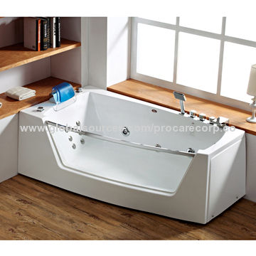 Preferred Portable Bathtub for Adults with Transparent Tempered Glass  PT19