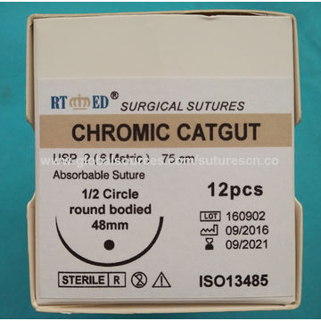 China Medical Absorbable Surgical Chromic Catgut Suture with Needle