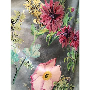 Velvet Digital Print Sofa Fabric China
