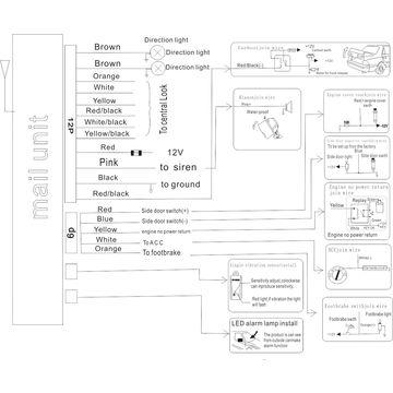 Universal Car Alarm Wiring Diagram | Wiring Diagram on