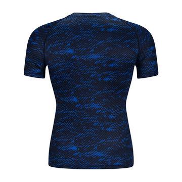 China Men's Printed Sports Tight Round-neck T-shirt