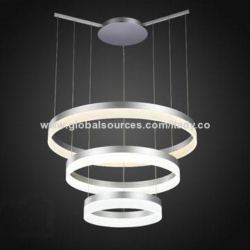 LED Pendant Light China LED Pendant Light & 3-tier Ring LED Pendant Light Super Bright 102W CE RoHS and SAA ...