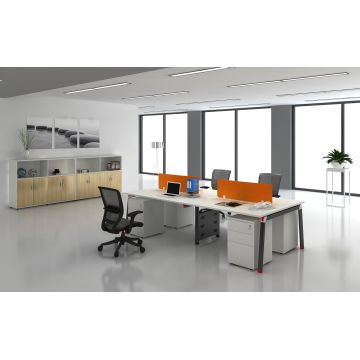 Low Price Modern Fashion Office Furniture Workstation For 4 Person