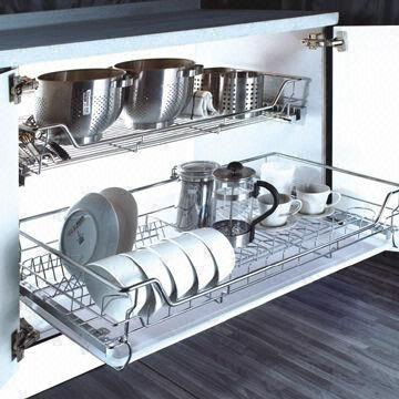 China Kitchen Cabinet Organizer Storage Basket Pull Out Wire With