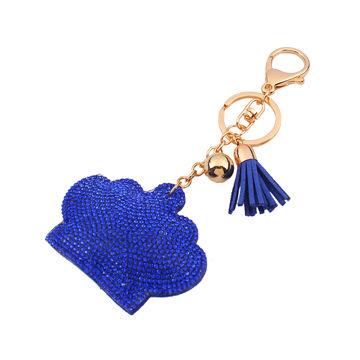 JOJO promotional custom crown angel rhinestone keychain