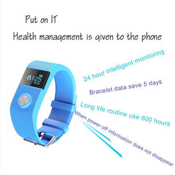 China New Waterproof Pedometer TW64P Wristband, Compatible for Android/iOS/PK/TW64/TW64S