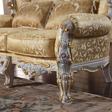 Reproduction French Provincial Furniture Living Room Furniture Sofa