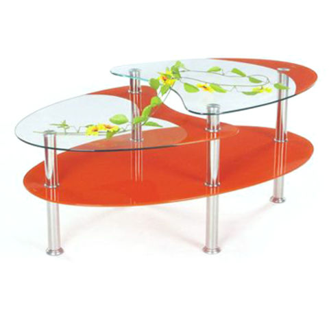 China Coffee Table Measures 110x60cm Made Of Tempered Glass With