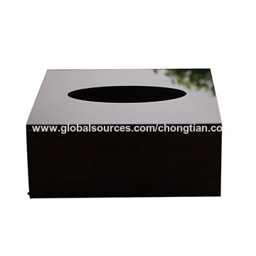 Black Acrylic Bathroom Tissue Box Cover