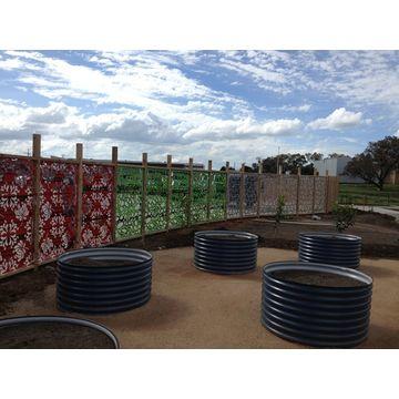... China Decorative Aluminum Perforated Laser Cut Outdoor Metal Garden  Screen ...