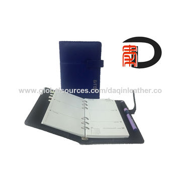 China Where to buy good quality and PU organizer with customized design, leather diary notebook organizers