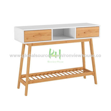 Living Room Cabinets Bamboo Tables Tv Stand, Tv Stand For Media Storage Assembly