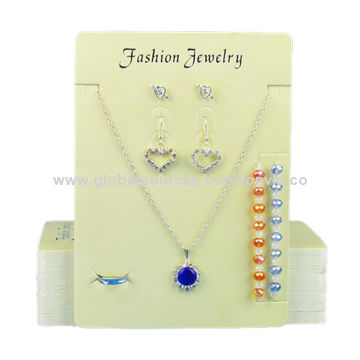 China Paper Jewellery Ring Necklace Earring Display Card