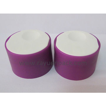 24/410 double wall wide plastic disc top cap screw on press